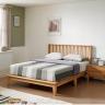 Giường đôi Poppy A gỗ cao su 2m0 - Cozino