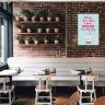 """Tranh trang trí quán trà sữa """"Uống trà sữa là niềm vui…"""" W3912"""
