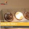 Đèn sưởi nhà tắm có điều khiển từ xa Heizen 3 bóng vàng HE-3BR