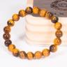 Vòng tay phong thủy nữ đá mắt hổ vàng nâu 8mm mệnh thổ, kim - Ngọc Quý Gemstones