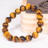 Vòng tay phong thủy đá mắt hổ vàng nâu 10mm mệnh thổ, kim - Ngọc Quý Gemstones