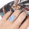 Nhẫn bạc tỳ hưu đá hải lam ngọc ni 17 mệnh thủy, mộc - Ngọc Quý Gemstones