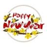 Decal dán tường Happy New Year PK587