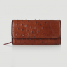 Túi đeo da đà điểu Huy Hoàng da bụng màu nâu đỏ HV6426