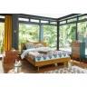Giường pano đôi Portobello phong cách Vintage gỗ tự nhiên 1m6