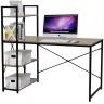 Bàn văn phòng, bàn vi tính, bàn học có kệ sách đi kèm Kachi MK184 - màu đen