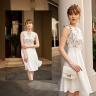 Đầm liền tuýt xi phối ren màu trắng HeraDG - SDP19082