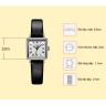 Đồng hồ nữ dây da chính hãng Julius Star Hàn Quốc JS-031A đen