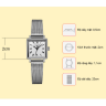 Đồng hồ nữ dây kim loại chính hãng Julius Star Hàn Quốc JS-031C bạc