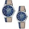 Đồng hồ cặp đôi nam nữ Casio dây da - hàng nhập khẩu