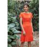 Đầm liền chifon chéo màu cam HeraDG - SDP19013