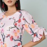 Đầm suông thời trang Eden tay cách điệu in họa tiết  - D367