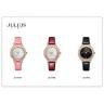 Đồng hồ nữ dây da mặt kính saphire chính hãng Julius Star Hàn Quốc JS-044C Đen
