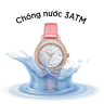 Đồng hồ nữ dây da mặt kính saphire chính hãng Julius Star Hàn Quốc JS-044A Hồng.