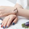 Đồng hồ nữ dây kim loại mặt kính saphire chính hãng Julius Star Hàn Quốc JS-030B.
