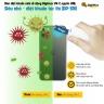 Đèn diệt khuẩn mini di động Digimax UV-C nguồn USB, siêu nhỏ - diệt khuẩn tức thì DP-3R1