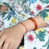 Vòng kết dây đỏ charm bi bạc 4ly mạ vàng 24k - Ngọc Quý Gemstones